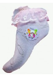 Носки детские цветные с кружевом