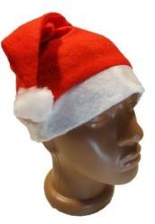 Новогодняя шапка однотонная
